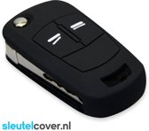 Opel SleutelCover - Zwart / Silicone sleutelhoesje / beschermhoesje autosleutel