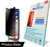 BE-SCHERM Apple iPhone Xs / X Privacy Screenprotector Glas (2x) - Anti-Spy - Tempered Glass - Case Friendly