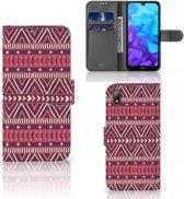 Huawei Y5 (2019) Telefoon Hoesje Aztec Purple