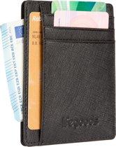 LifeGoods Wallet Minimalistische Creditcardhouder - Leer - Zwart