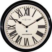 NeXtime Amsterdam - Klok - Rond - Ø40 cm - Zwart