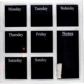 Krijtbord / schoolbord - weekplanner 45x45 cm.