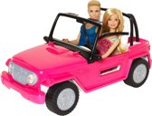 Barbie Beach Cruiser Auto met Ken & Barbie