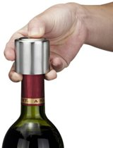 2X RVS Vacuum Pomp Wijnstopper - Wijnstop / Flessenstop Voor Wijn - Wijnflesafsluiter