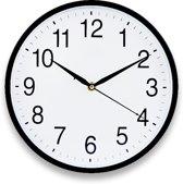 JAP Clocks AC60 - Ronde Wandklok - Stil uurwerk - Rond - Glas - Ø30cm - Zwart