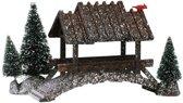 Lemax Kerstdorp Houten Brug met Bomen