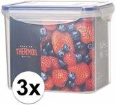 3x stuks Thermos airtight vershoud doosjes/bakjes van 2 liter