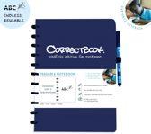 Correctbook - A4 - Gelijnd - Blauw - Uitwisbaar / herbruikbaar / whiteboard notitieboek