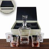 Premium whiskey decanter set – Luxe whisky karaf met glazen – Elegante geschenkverpakking – 5-delig