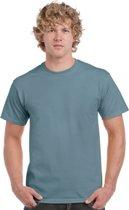 T-shirt stone blauw L