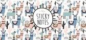 Sticky notes box Alpaca