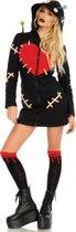 Cozy Voodoo Doll kostuum - S - Zwart - Leg Avenue