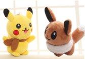 Pikachu en Eevee Pokemon knuffel