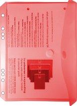 EXXO-HFP #35046 - A5 Ringband Documententas - Rood - 120 stuks (12 pakken @ 10 stuks)