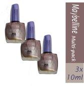 3x  Maybelline Nagellak – Foreverstrong Metallics Pink Bronze 3x