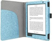 Premium Hoes Kobo Aura H2O Edition 2 / H20 New Cover Blue Sparkle