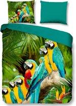 Pure Parrots - Dekbedovertrek - Lits-jumeaux - 240x200/220 cm + 2 kussenslopen 60x70 cm - Multi