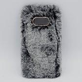 Voor Samsung S8 – pluizig hoesje – grijs