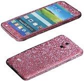 Xssive Glitter Sticker voor Samsung Galaxy S5 G900 of S5 Neo G903 Roze - Pink Duo Pack/2 stuks
