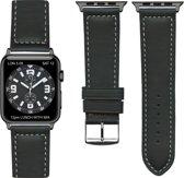 """Frans Top kwaliteit """"sports"""" Apple watch horlogebandje Zwart (38mm) zwarte adapter"""