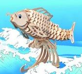 Houten 3D Puzzel Karper – Hobby Modelbouw Speelgoed Bouwpakket Hout Zelfbouw Pakket Houtpuzzel Vis