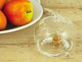 Fruitvliegenval decoratief - appel in glas - set van 3 stuks