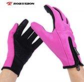 Waterafstotend & Windproof Thermische Touchscreen Handschoenen -Dames - Roze - Maat M