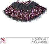 """""""Zwarte en roze onderrok met ruitpatroon voor vrouwen - Verkleedattribuut - One size"""""""