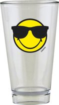 Zak!Designs Smiley Glas - 30 cl - Emoticon Sunglass -es Geel