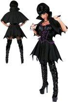 Zwart vampierskostuum voor vrouwen - Verkleedkleding - Medium