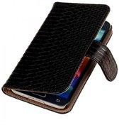 Samsung Galaxy S5 Hoesje Slang Bookstyle Zwart