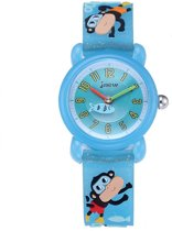 Kinderhorloge Aapjes – 3D Watch – Lichtblauw - Kids Watch