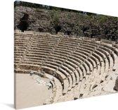 De zitplaatsen voor het theater in Beit She'an Canvas 60x40 cm - Foto print op Canvas schilderij (Wanddecoratie woonkamer / slaapkamer)