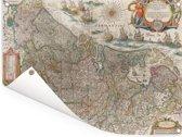 Landkaart van Nederland Tuinposter 160x120 cm - Tuindoek / Buitencanvas / Schilderijen voor buiten (tuin decoratie) XXL / Groot formaat!