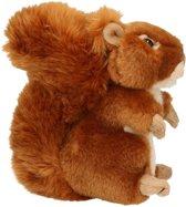 Pluche knuffeldier eekhoorn zittend/liggend 17 cm � knuffel