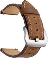 SmartphoneClip Leren bandje - Samsung Galaxy Watch (46mm) - bruin