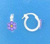 The Jewelry Collection Creolen Bloem - Zilver