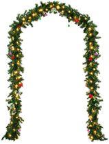 Monzana Decoratieve - Kerstguirlande - 5mtr - 80xLED -in/outdoor - inclusief - versiering