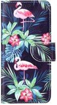 Flamingo's Boekmodel Hoesje Samsung Galaxy S8