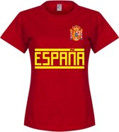 Spanje Dames Team T-Shirt - Rood - S