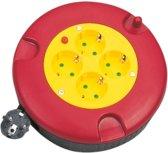 LogiLink LPS500 power uitbreiding 5 m 4 AC-uitgang(en) Binnen/buiten Zwart, Rood, Geel
