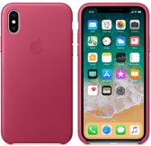 Apple Lederen Back Cover voor iPhone X - Fuchsia