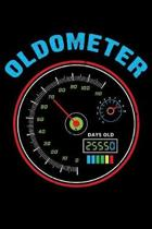 Oldometer: 120 Page Lined Notebook - [6x9]