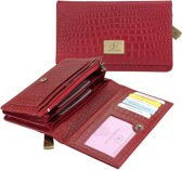 dR Amsterdam Croco Buff 55102 Damesportemonnee - Red