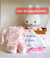 Geboorte Cadeau Vlinder met 14 artikelen Roze: NO 4