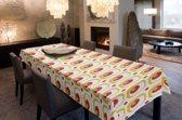 Joy@home Tafellaken - Tafelkleed - Tafelzeil - Retro Wit/Rood - 140cm x 180cm