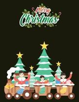 Merry Christmas: Best Christmas Blank Lined Notebook Journal, Notebook Gift 110 pages 8.5 x 11'' Blank Lined Journal - ... - for Journa