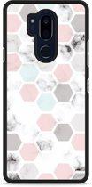LG G7 Hardcase Hoesje Marmer Honeycomb