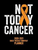 Not Today Cancer: 2020 -2021 Daily/ Weekly/ Monthly Planner: Leukemia Awareness: 2-Year Personal Planner with Grid Calendar Orange Aware