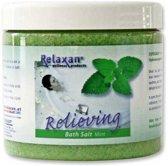Relaxan dode zee badzout munt aroma, speciaal voor gebruik in bad of whirlpool
